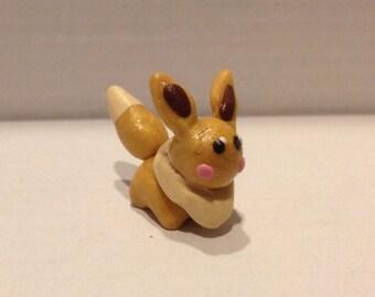 Polymer clay Eevee figurine