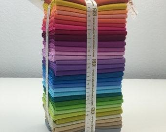 Kona Solids 30th Anniversary 32 Piece Fat Quarter Bundle from Robert Kaufman Fabrics (Precut Quilting Fabric, 100% Cotton)