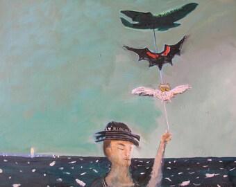 I Love Rimini (2012), Original Oil Painting, Large Canvas Painting