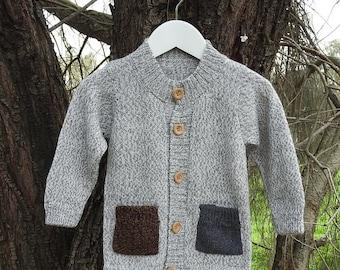 Baby Alpaca Kids Cardigan / Sweater