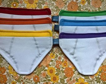 Kit white rainbow slip