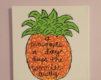 A Pineapple a Day... Canvas