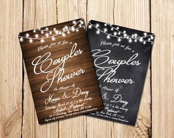 RUSTIC COUPLES SHOWER Invitation, Printable Couples Shower Invitation, Couples Shower Invitation, Couple's Shower, Couples Shower