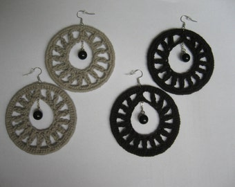 Gothic Teardrop Crochet Earrings, limited edition (The black one is already sold offline)