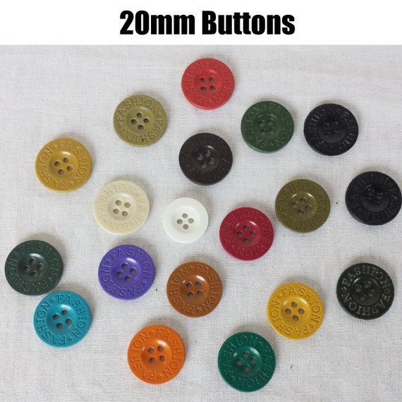 20mm plain buttons assorted colors fashion arts and for Michaels crafts button maker