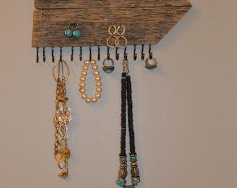 Barnwood Jewelry Holder, Jewelry Organizer, Arrow Jewelry Holder, Earring Holder, Necklace Holder , Reclaimed Barnwood Jewelry