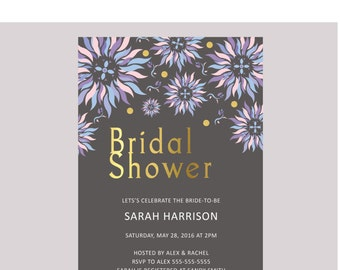 "Bridal Shower Invitation 5""x7"" Printable"
