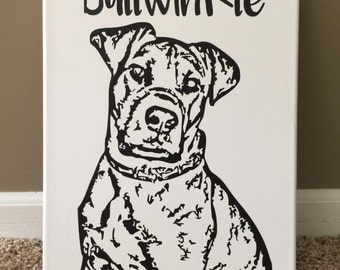 Custom Canvas Pet Canvas 11x14