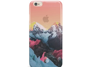 Sunset Snow Capped Mountains Case, Ski, iPhone 6, iPhone 6 Plus, Tough iPhone Case, Galaxy S7, Samsung Galaxy Case iPhone 5c Case 526