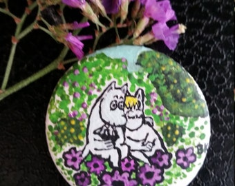 Hand painted Moomin pin