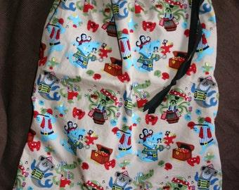 Pirate fabric drawstring bag