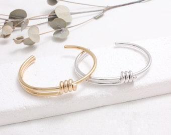 Coil Spiral Cuff Bracelet