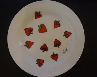 Strawberry Side Plate