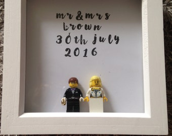 Personalized Bride and Groom Lego Frame