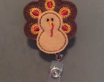 Gobblin' Turkey Badge Reel