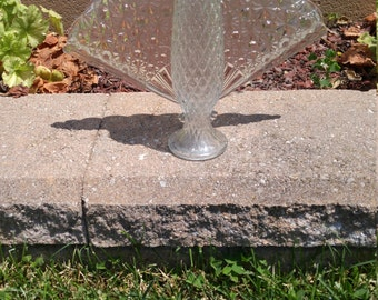 Clear glass garden angel