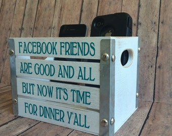 Cell Phone Holder for kitchen or dining area