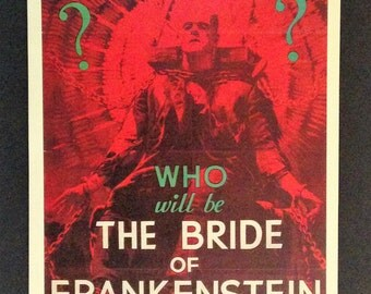 """Bride of Frankenstein Movie Poster 12""""18"""" Reproduction"""