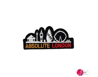 Absolute London Embroidered Iron on Patch