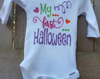 My first Halloween outfit, 1st Halloween Custom outfit, Custom Baby Girl Clothes