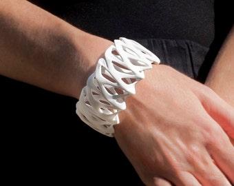Twist - 3d Printed Bracelet - Nylon