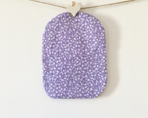 Ileostomy Bag Cover - Purple & White Flower Print