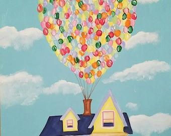 UP house acrylic painting