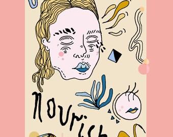 nourish A5 print