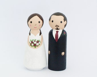 Wedding Cake Topper Mr and Mrs - Bride and Groom  - Personalized Wedding Decor