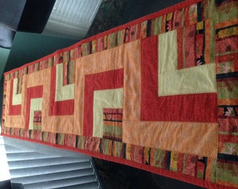 Quilted Table Runner - Autumn Theme - Oranges/Yellows