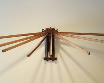 8 Lath Wooden Hanging Clothes Drying Rack Or Pot Rack