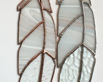 Classic Eagle Stained Glass Feather