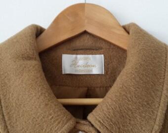 Vintage Eastex camel wool coat, UK Size 18