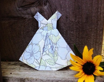 Origami Dress, Scrapbook Supplies, Scrapbook Decoration, Paper Dress