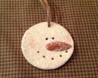 Circle Snowman Ornament