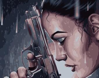 LARGE SIZE Lara Croft Tomb Raider Print / Big Poster / Movie Poster / Large Poster /