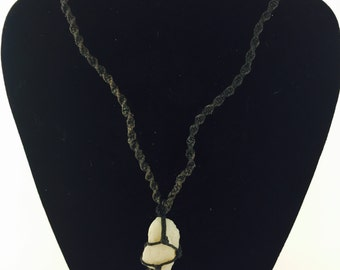 Black Hemp Stone Necklace