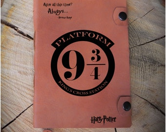 Leather Harry Potter journal/Harry Potter diary/Personalized Harry Potter notebook/Platform 9 3 4/Harry Potter Sketchbook/Harry Potter gift
