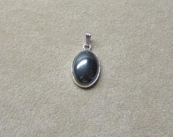 Exquisite HEMETITE STERLING silver pendant.