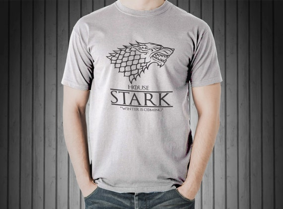 House Stark Winter is Coming Game of Thrones T-Shirt S-4XL and Long Sleeve Available
