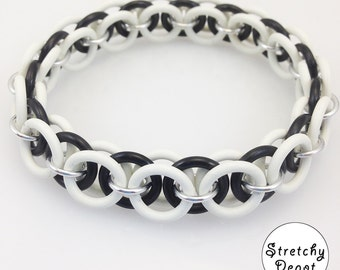 Black and White Stretchy Bracelet