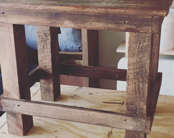 Custom-made Rustic Side Table