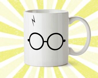 Harry Potter Mug - The Boy Who Lived - Hogwarts Mug - Harry Potter Coffee Cup - Travel Mug - Inspirational Mug - Gryffindor - Glasses - Scar