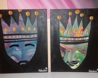 11x14 (2) King and Queen on the rise