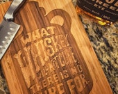 Whiskey - Custom Laser Etched Bamboo Cutting Board, Knife Board, Personalized Cookware, Branded Barware