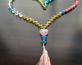 Beaded Necklace, Girl's Necklace, Tassel Necklace