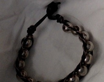 leather signel wrap bracelet