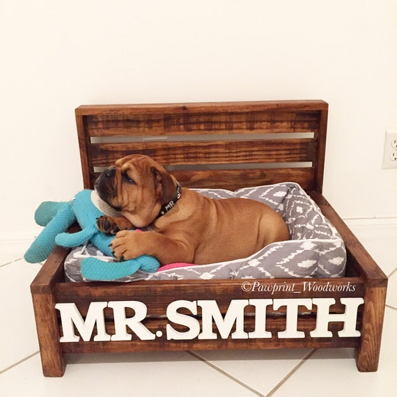 Items similar to customized dog bed rustic dog bed wood for Wood dog bed furniture
