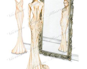 Mirror Mirror (Fashion Illustration)