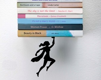 Wondershelf - Floating Bookshelf by Artori Design - Metal bookshelf - hanging bookshelf